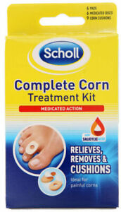 Scholl Complete Corn Treatment Kit - Medicated Action - 6 Medicated Discs