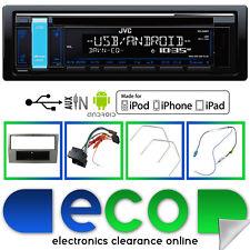 JVC CD MP3 RDS Tuner USB Aux iPod Car Stereo & Vauxhall Astra H Fascia Kit Black