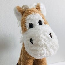 First & Main Lankydoodle Horse Plush Stuffed Animal Toy Brown Corduroy Hoofs 11""