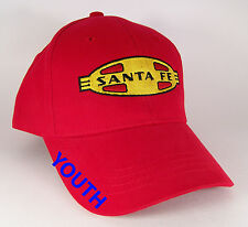 Santa Fe Warbonnet  Railroad Red Embroidered Youth Kids Cap Hat #40-5500YKR