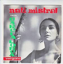 NATI MISTRAL Disque 33T 17 cm Rocio HERRERO Guitare GARCIA LORCA - VERGARA RARE