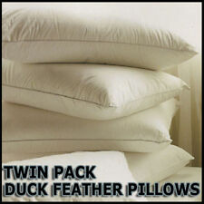 New 2 x Duck Feather & Down Pillows BARGAIN OFFER PILLOW PAIR