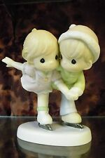 """Precious Moments #539988 """"Sharing Our Winter Wonderland"""" Ice Skating Couple-NEW"""