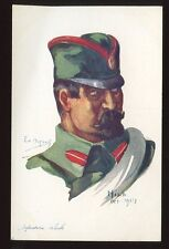 Military EMILE DUPUIS artist drawn WW1 Serb soldier Nisch 1914 PPC