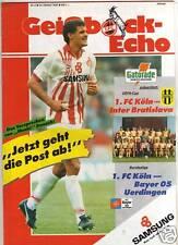 PRG     UEFA Cup  90/91    1.FC KÖLN - INTER BRATISLAVA