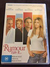 Rumour Has It DVD Jennifer Aniston Kevin Costner Shirley McLean
