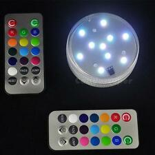 Waterproof LED RGB Submersible Light Christmas Party Vase Lamp+Remote Control US