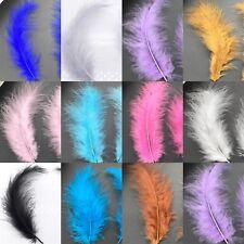 BULK 50 Veniard Marabou Fluffy Turkey Feathers 8-16cm 16 Colour Choice DIY Craft