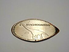 BRACHIOSAURUS DINOSAUR-Elongated / Pressed Dime D-405
