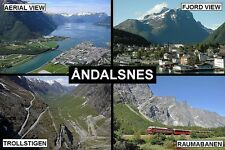 SOUVENIR FRIDGE MAGNET of ANDALSNES NORWAY