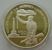 Poland 10 Zlotych 1995 Capture of Berlin Silver Proof Coin
