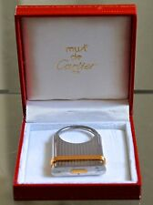 CARTIER TRINITY KEY RING BANDS SILVER GOLD PLATED VINTAGE1980'S