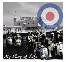 MODS PATCH A WAY OF LIFE QUADROPHENIA BRIGHTON SCOOTERS JIMMY THE WHO THE JAM