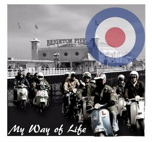 MODS PATCH A WAY OF LIFE QUADROPHENIA BRIGHTON SCOOTERS  PARKA TARGET JIMMY