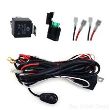 New Kawell Universal 2 lead LED Light Bar Wiring Harness Kit With Fuse Relay