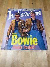 DAVID BOWIE INTERVIEW MAGAZINE ANDY WARHOL September 1995 David Bowie