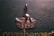 Longaberger Woven Memories Basket Charm 14k White Gold with Box