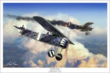 "Fokker E.V Wwi Aviation Art Print - 16"" x 24"""