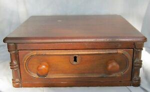 Antique Wood Storage Drawer Box