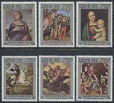 LAOS N°460/465** Tableaux, Raphaël TB, 1983 Paintings set Sc#442-447 MNH