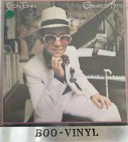 Elton John Greatest Hits LP DJM DJLPH442 1974 translucent red vinyl  VG+  / EX