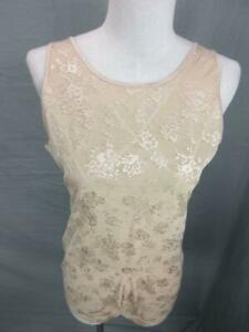 Flexees Size 2XL Womens Beige Bodybriefer Firm Control Torsette Shaping Top 4L