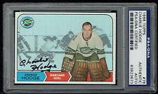 Charlie Hodge #78 signed autograph auto 1968 Topps Hockey Trading Card PSA Slab