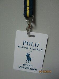 Polo Ralph Lauren Brand Ambassador Navy/Yellow Lanyard