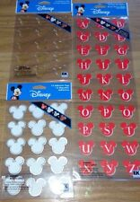 Disney Tag Type Alphabet sticker set Scrapbooking Stickers, Tags, Epoxy Mickey