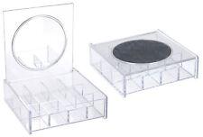 Spiegel Schmuckkästchen 12 Fächer - Schmuck Schatulle Perlen Box Organizer Dose