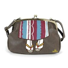 mis zapatos 3-way shoulder bag with cute Kimono design from Japan (Brown)