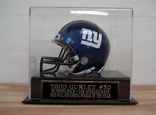 Mini Helmet Display Case With A Todd Gurley Rams Engraved Nameplate
