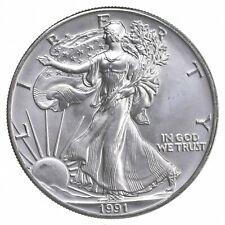 Better Date 1991 American Silver Eagle 1 Troy Oz .999 Fine Silver *147