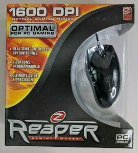New! Ideazon REAPER GAMING MOUSE 1600 DPI For PC Gaming 7 Button ZMS-1000