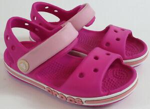 Crocs Bayaband Sandal Clog Toddler Girls Size C7 Candy Pink Ankle Strap 205400