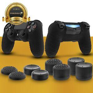 Anti-Slip Silicone Skin + 8x Thumb Stick Grip Cap for PS4 DualShock 4 Controller