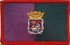 MALAGA ESPANA Flag Embroidery Iron-On Patch Spain Biker Emblem RED Border #037