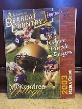 2003 McKENDREE BEARCATS COLLEGE FOOTBALL MEDIA GUIDE - b3
