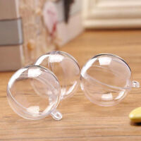 1x Round Ball Christmas Clear Bauble Ornament Gift Present Xmas Tree Craft
