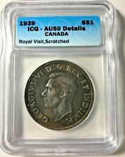 1939 Canadian $1 Coin (C238) - Royal Visit, Scatched