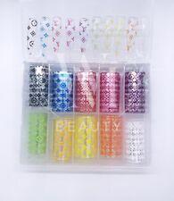 Box 10 Pcs Designer transfer foils Nail Art Foil Transfers Popular 50x4cm