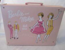 RARE VINTAGE MATTEL 1963 PINK BARBIE AND MIDGE DOLL CASE