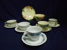 """Mixed Lot Vtg Mid Century """"Mad Hatter Tea Party"""" Set (6) Cups Saucers Lot B13"""