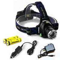 2000LM CREE T6 LED Headlamp Torch Rechargeable Headlight Bright 18650 Battery