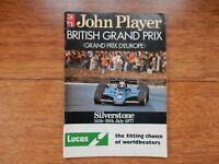 1977 BRITISH GRAND PRIX F1 PROGRAMME SILVERSTONE 14TH - 16TH JULY 1977
