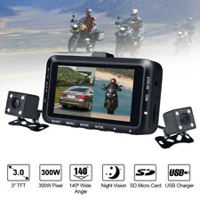 "3"" Motorcycle DVR Motorbike Dual Camera Action Video DashCam Recorder Waterproof"