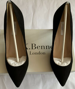 LK Bennett Tess Suede Black Court Shoes UK 5 38 BNWT RRP £175