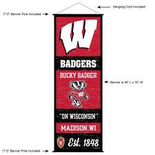 University of Wisconsin Badgers Room Banner Poster Art Canvas