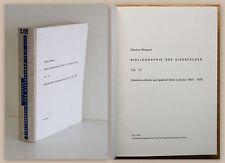 Wiegand Bibliographie des Eichsfeldes Literatur Heimatkunde & Geschichte 1980 xz