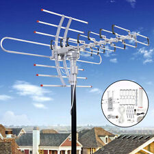 180 Miles HDTV Outdoor Amplified Antenna HD TV Directional UHF/VHF/FM Anten